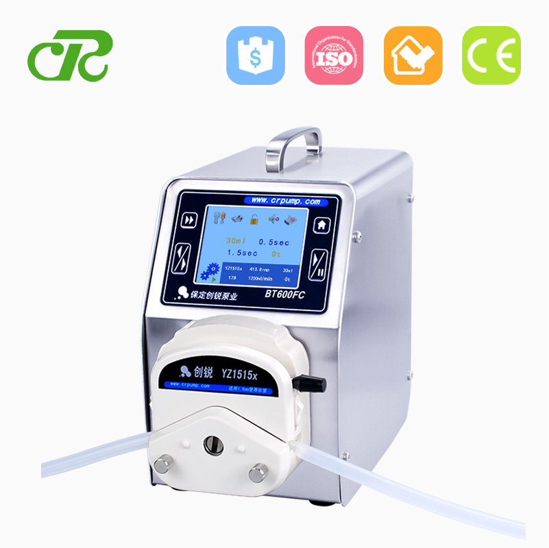 Touch Screen And Digital Control Peristaltic Pump With Industrial Motor Speed Controller For Liquid Filling Machine
