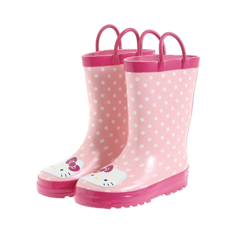 5b0b63ff6 Kids Girls Hello Kitty Printed Waterproof Easy-On Rubber Rain Boots (Toddler /Little