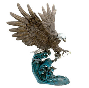 Factory direct sell bronze eagle sculpture