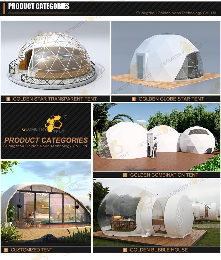 גדול מסיבת אוהל חיצוני עמיד למים פרסום PVC כיפת אוהל