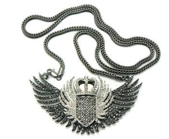 Bird wings silver hip hop jewelry bling bling iced out diamond bird wings silver hip hop jewelry bling bling iced out diamond pendant crown money men jewellery aloadofball Images