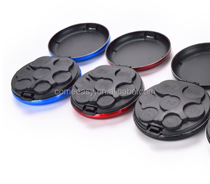 New Round Euro Coin Dispenser Storage Coins Purse Wallet Holders Storage Box Aluminum Alloy+ Plastic Coins Purse Wallet