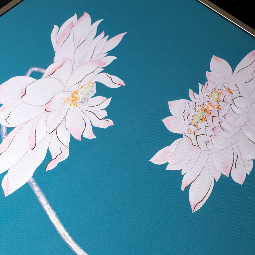 Abstract Lotus Flower Relief Painting - Buy Lotus Painting ...