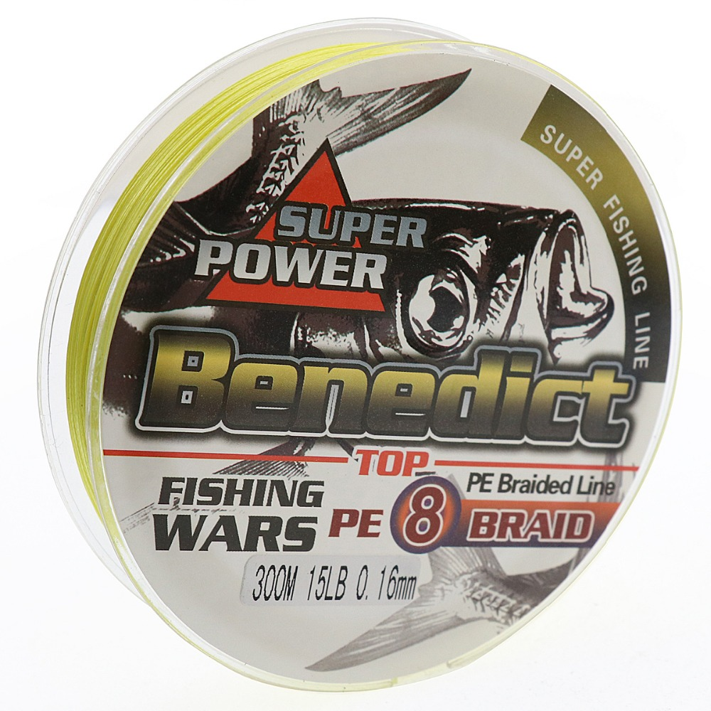 Super Strong In Stock 300m PE Braided Fishing Line 8 strands