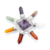 7 Chakra Gemstone 7 Point Pyramid Energy Generator, Healing Crystal For Decoration