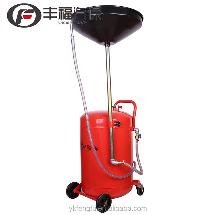 CE BERSERTIFIKAT Garasi Drainers dengan 10L Minyak Drainer Limbah Minyak Pan