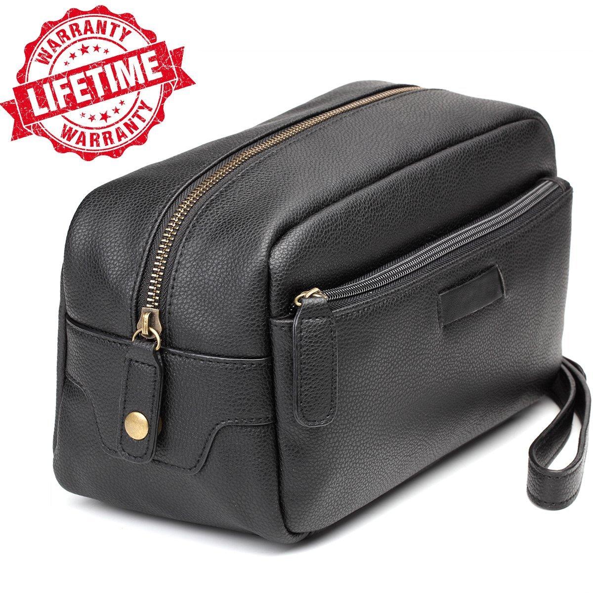e84ea5de4b Get Quotations · Toiletry Bag-Leather Toiletry Bag Dopp Kit – Mens Toiletry  Bag