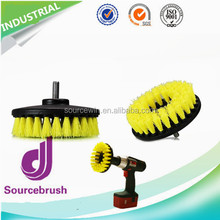 Amazon Hot Sale Scrub Car Seat Carpet 5inch Round Cleaning Brush For Power Drill Attachment
