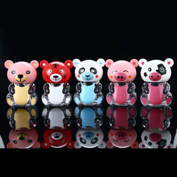 450ml PET plastic  cartoon cute bear panda tiger and pink pig shape sealed  jars for packing candy food jelly cookies gifts