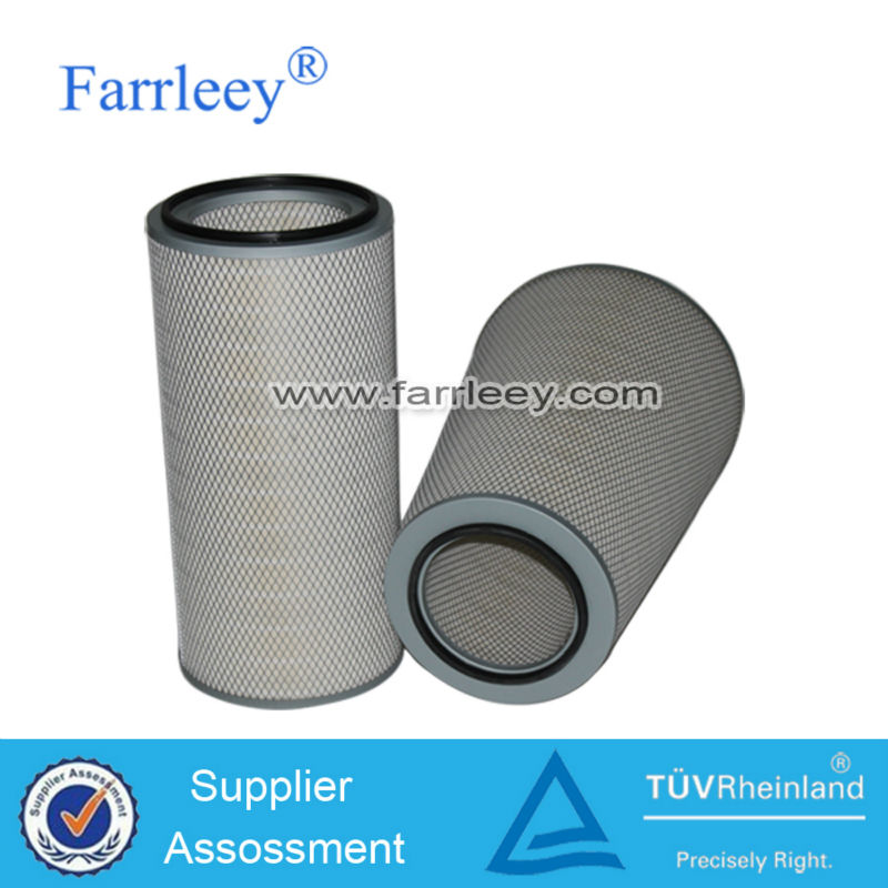 Tabaco industry self-cleaning gas turbine air intake pleated cellulose filter cartridge
