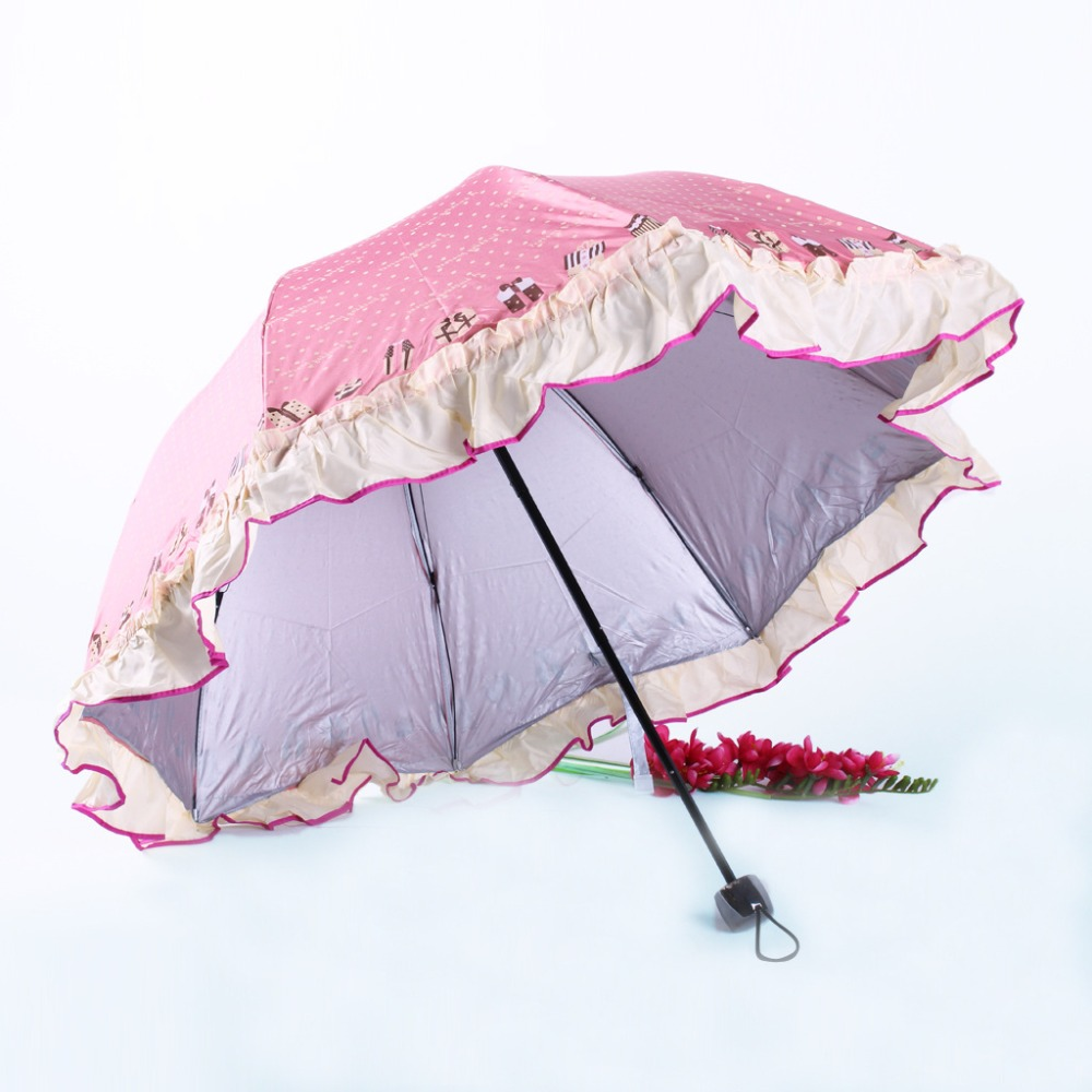Dentelle Conception parapluie robe conception anti-UV Protection parasol parasol