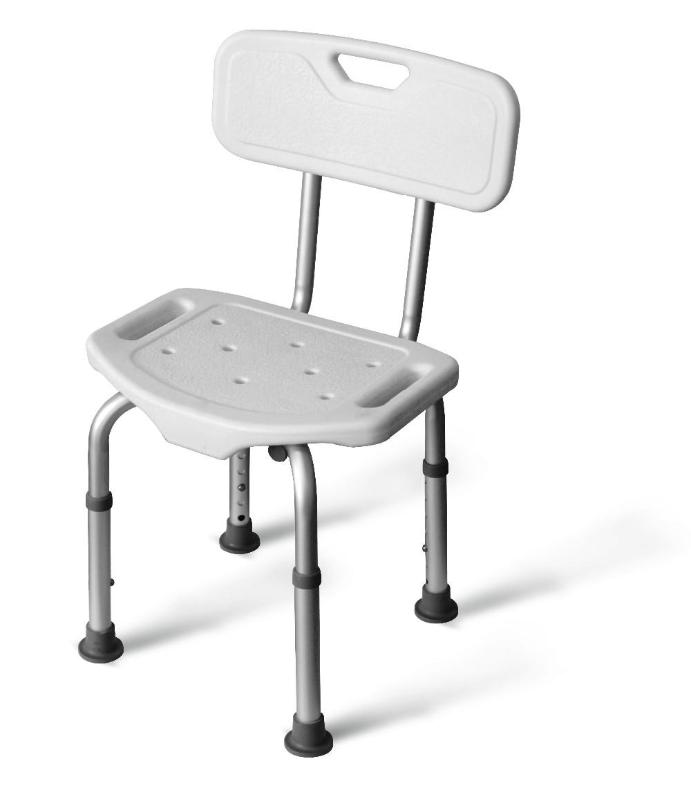 adult elderly home care shower stool aluminum adjustable bathroom chair bath seat backrest height 67