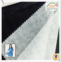 Non woven fusible interlining fabrics /therm bond nonwoven fusing paper/tela for lady's shirt/dress(#5518)