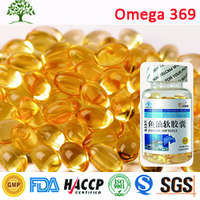 GMP Certified Omega 3 6 9 Fish Oil 1000mg Blood Purifier Softgel Capsules