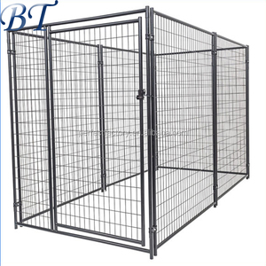 Big dog use metal welded outdoor dog kennels cages/black pen kennel