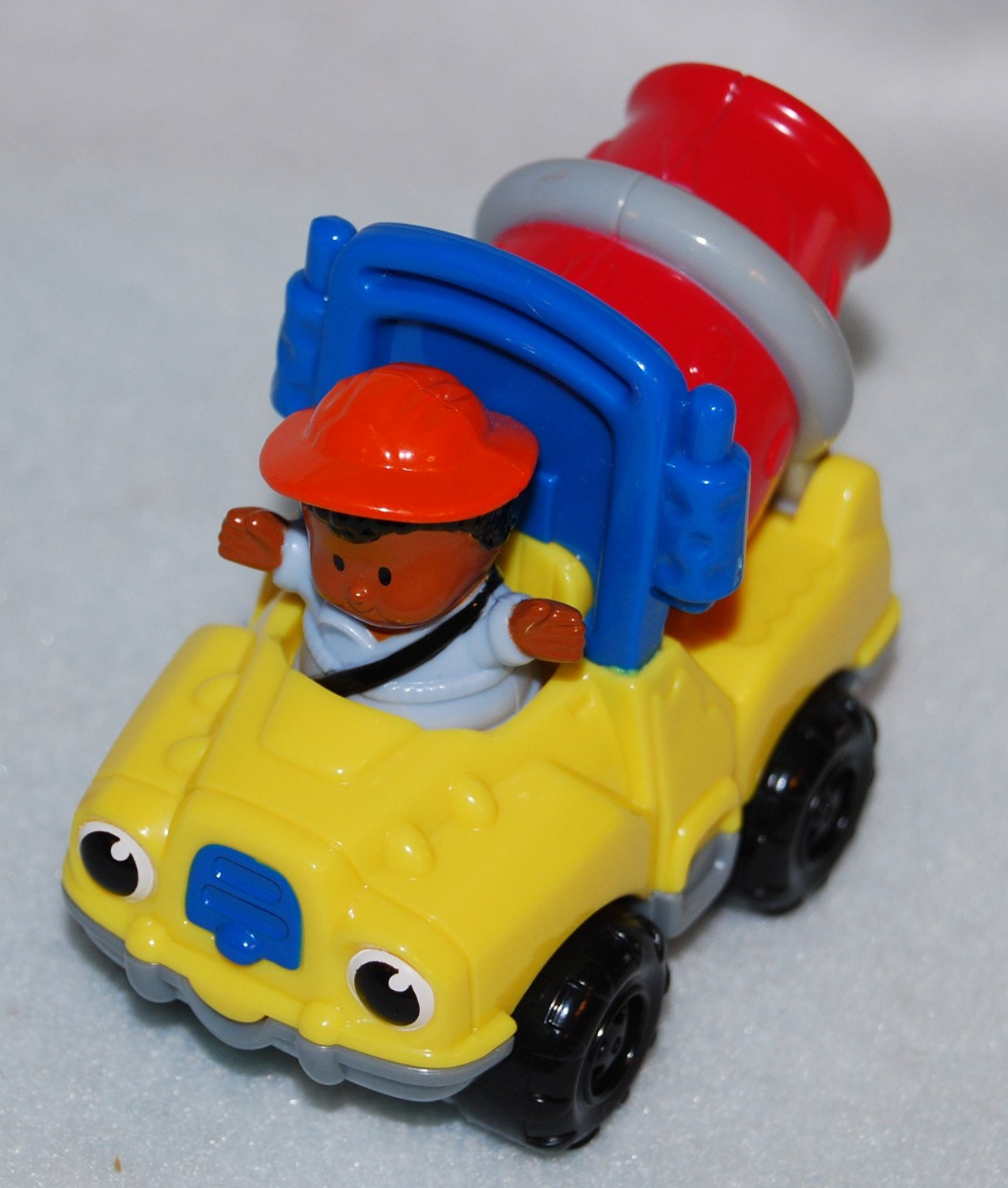 McDonalds Happy Meal 2004 Fisher Price Cement Truck with Africian American Little Boy