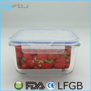 Square Microwave-safe Pyrex Glass Hot Case Lunch Box