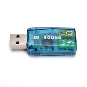 External Usb Sound Card 5.1 Channel Audio Card Adapter 3.5Mm Speaker Microphone Earphone Interface For Pc Computer