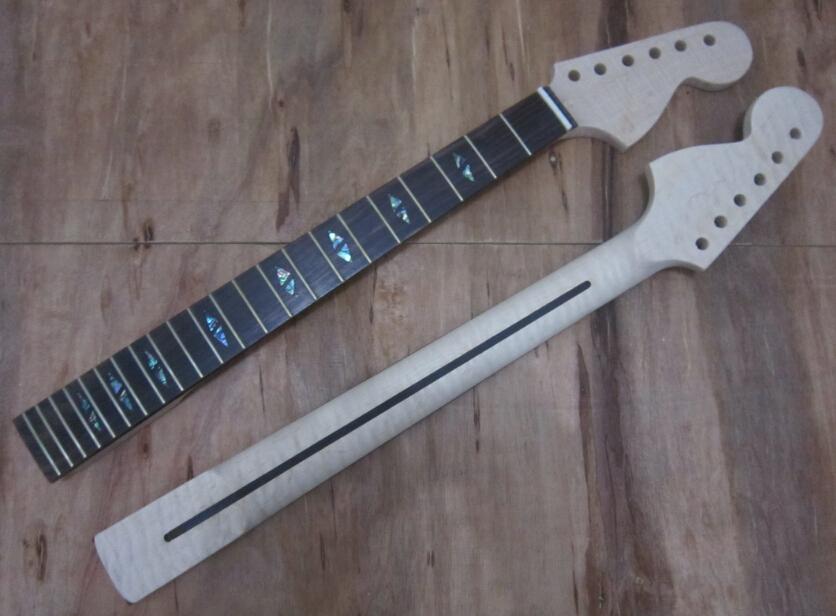 Guitar Parts Bulk : 22 frets tiger flame material maple electric guitar neck wholesale guitar parts musical ~ Russianpoet.info Haus und Dekorationen