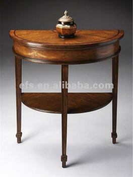 Butler Demilune Console Table In Heritage W Maple Border Efs A T241