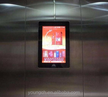 Wall Mounted Elevator Advertising Screen 22 Inch