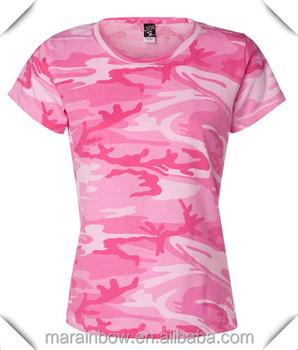 Bulk Wholesale Pink Camo T Shirts For Women Custom Made