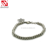 Wholesale High Polished Stainless Steel Bead Bracelet Charms For Men Or Women BHBA0040