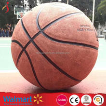 custom size 7 basketballs 12 panel leather for student competition or training