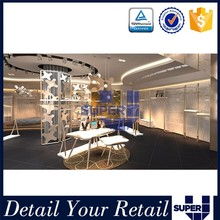 Professional custom high quality revolving metal clothing store rack in department store