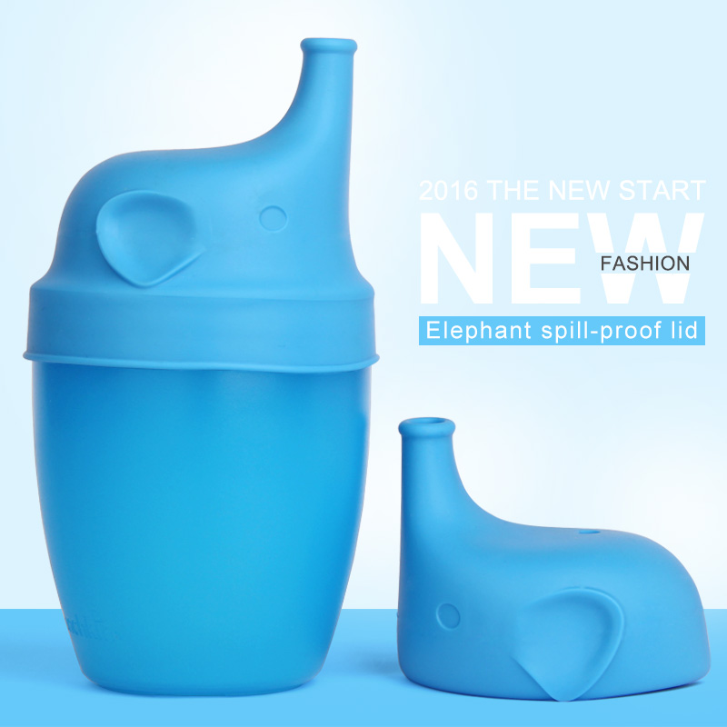 Factory Wholesale Silicone Sippy Lids For Baby Training Drinking Converts any Cup or Glass to a Sippy Cup
