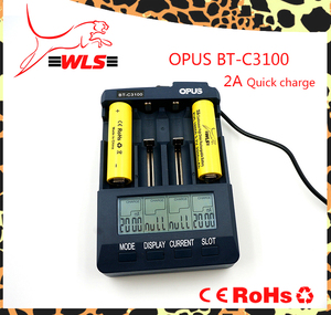 OPUS BT-C3100 capacity tester USB 18350 18650 li-ion charger with LCD display universal fast charger for li-ion batteries Opus