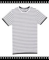 Fashionable Yarn Dye Stripe Fit Round Neck T-Shirt