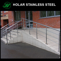Holar aisi 304 decorative stainless steel pipe stair handrail