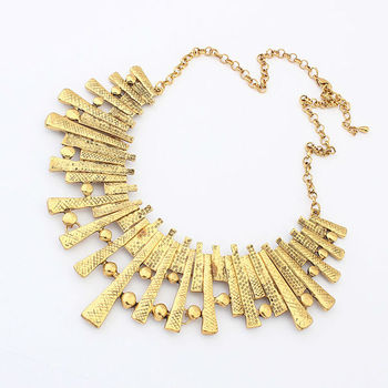 Women Hot New High Quality Turkish Necklace Vintage Style Costume Jewelry Antique Gold Plated Bulk Chain Pn2422