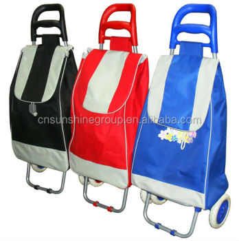 Folding Trolley Shopping Bags With Detachable Wheels,Vintage ...