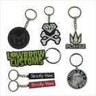 Custom Soft PVC Keychains 3D PVC Rubber Key Chain metal rubber cute embroidery keychain
