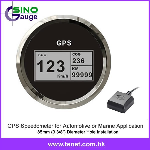 LCD digital speedometer odometer speedo GPS speedometer,85mm LCD display speedometer