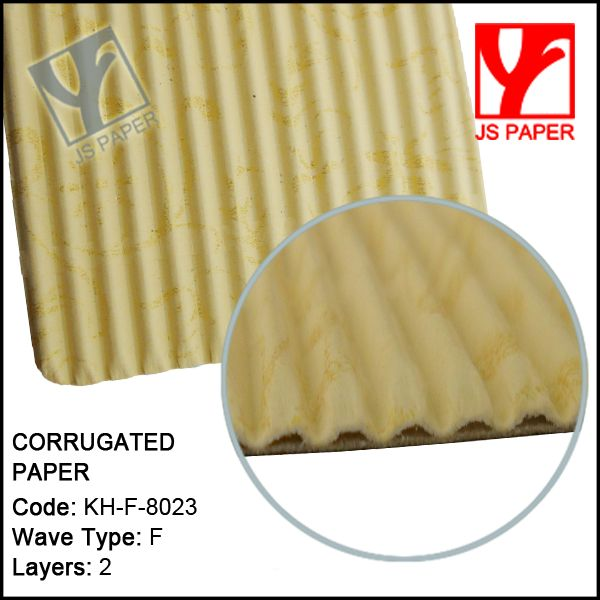 F flute corrugated wrapping paper