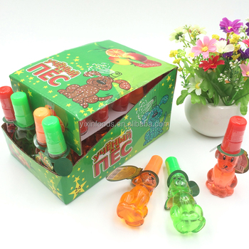 Funny sweet dog shape fruit flavor spray candy