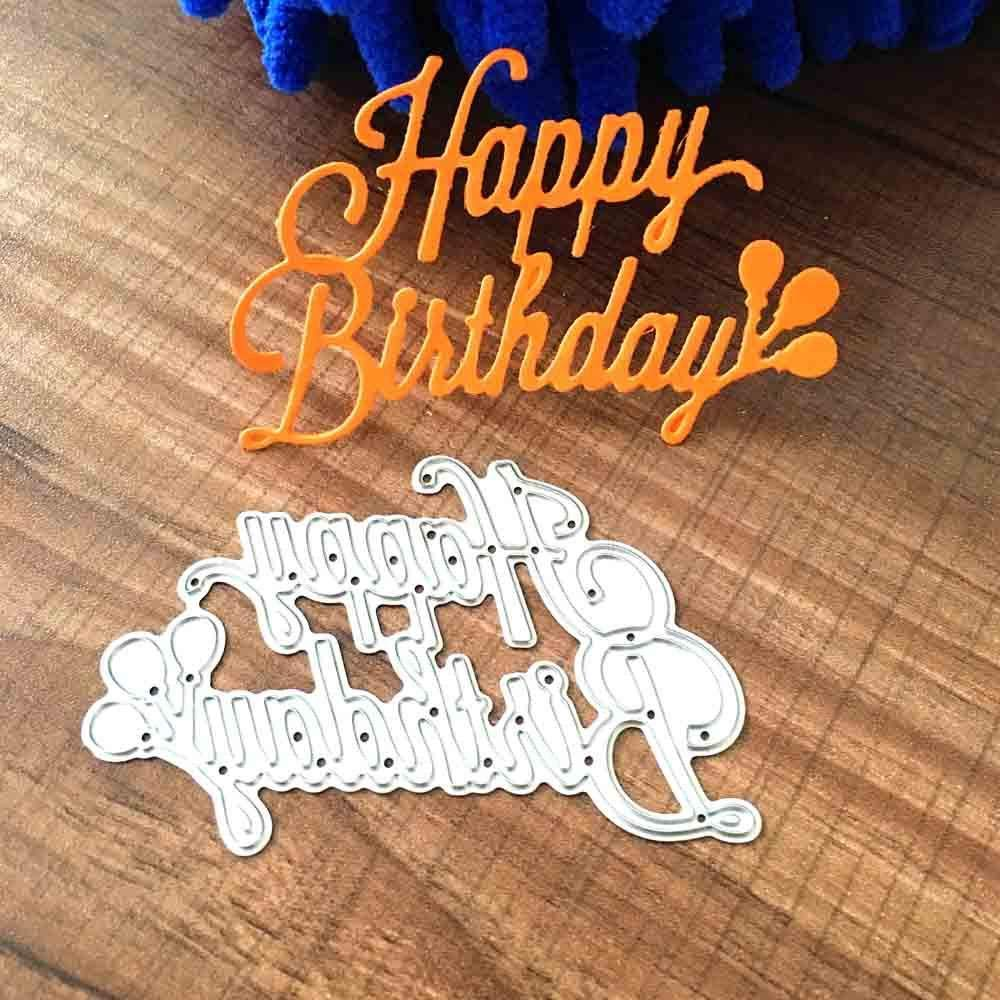 get quotations cutting dies christmas happy birthday metal cutting dies card making scrapbooking stencils album paper card