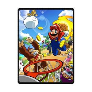 c2d3eb37bd Get Quotations · Super Mario Playing Basketball Custom Designer Woolen  Blanket Fleece Blanket Indoor and Outdoor Blanket Travel Blankets