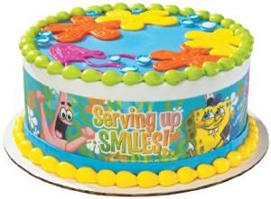 Spongebob Squarepants Edible Cake Border Decoration
