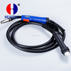 China supplier 24KD gas welding torch euro connector 3m/4m/5m