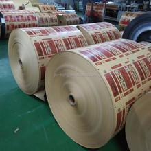 Color Printing Food Packing foil paper Aluminum Foil Roll within 100mm width