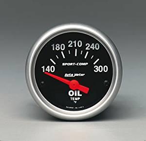 AUTO METER 3348 2.06 In. Mini Sport-Comp Oil Temperature Gauge 140-300 Degrees F