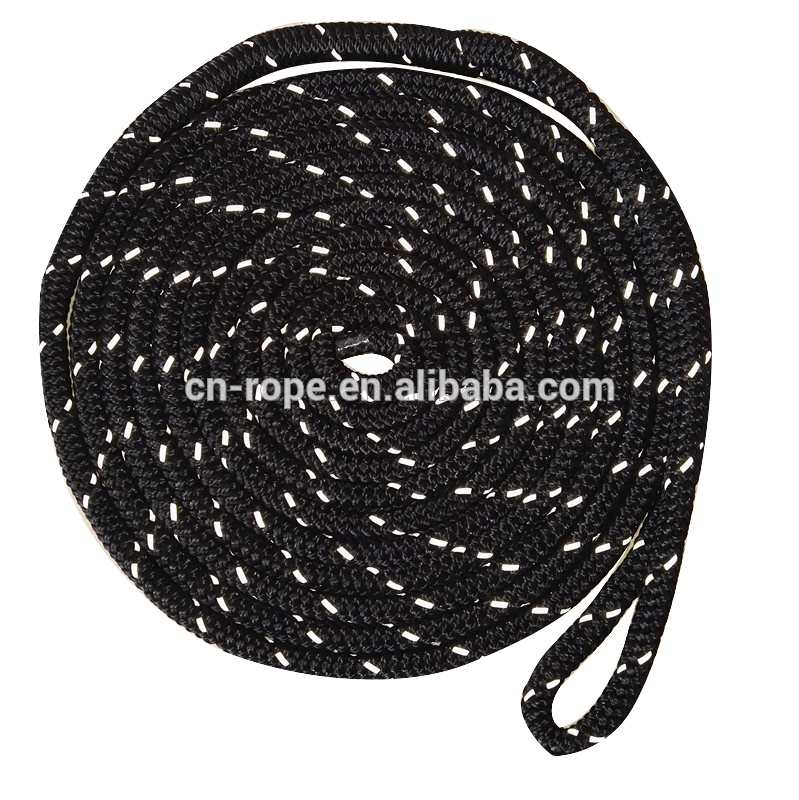 24 strands double braided anchor rope polyester marine yacht rope