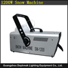 1200watt stage snow machine snow spray machine for stage party disco club dj with remoter / wire / DMX512 model to select