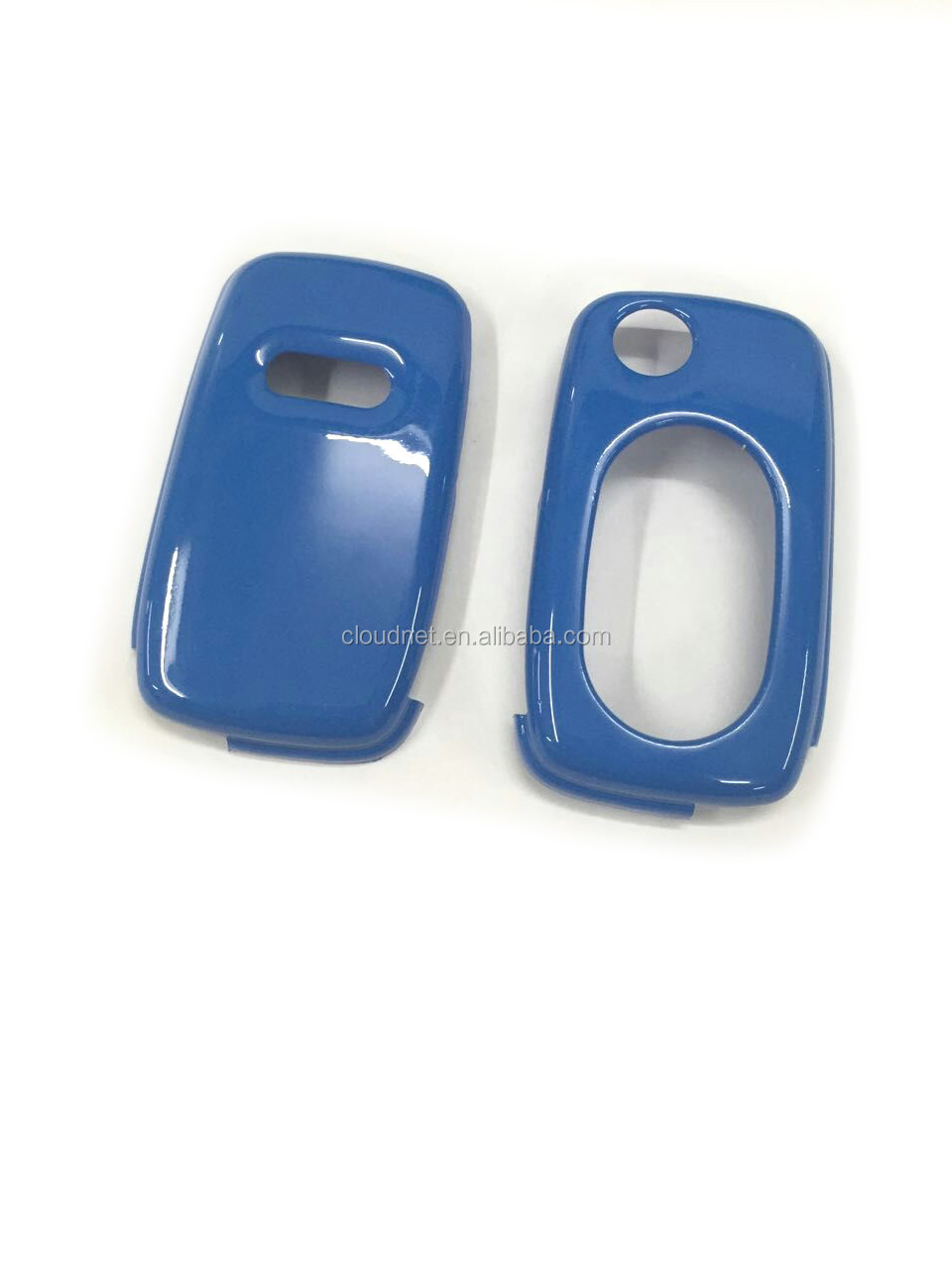 Gloss Blue Plastic Keyless Remote Key Fob Flip Key Protection Case Cover For Audi A3 8L A4 B5 B6 TT MK1 A6 C5