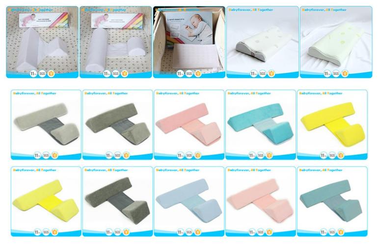 memory foam baby crib wedge pillow sleep positioner for baby mattress
