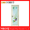 decorative design aluminum obscure glass casement toilet door